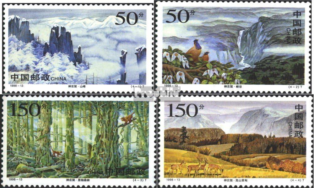 Briefmarken f/ür Sammler Landschaften 1998 Naturreservat Shennongjia kompl.Ausg. Prophila Collection Volksrepublik China 2917-2920