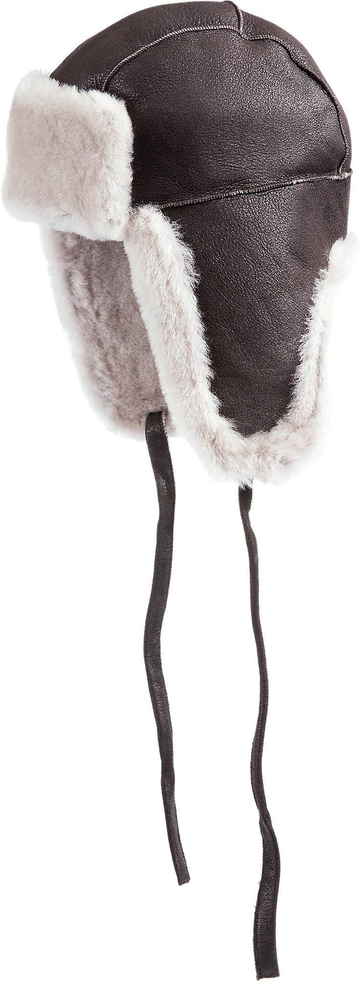 B-3 Sheepskin Aviator Hat Dark Brown/Cream