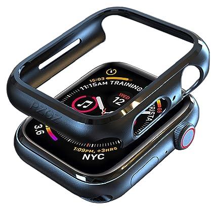 best website 4fe90 22c2c pzoz Compatible Apple Watch Series 4 Case 44mm Accessories Slim Guard  Protector Thin Bumper Full Coverage Matte Hard Cover Defense Edge for Women  Men ...