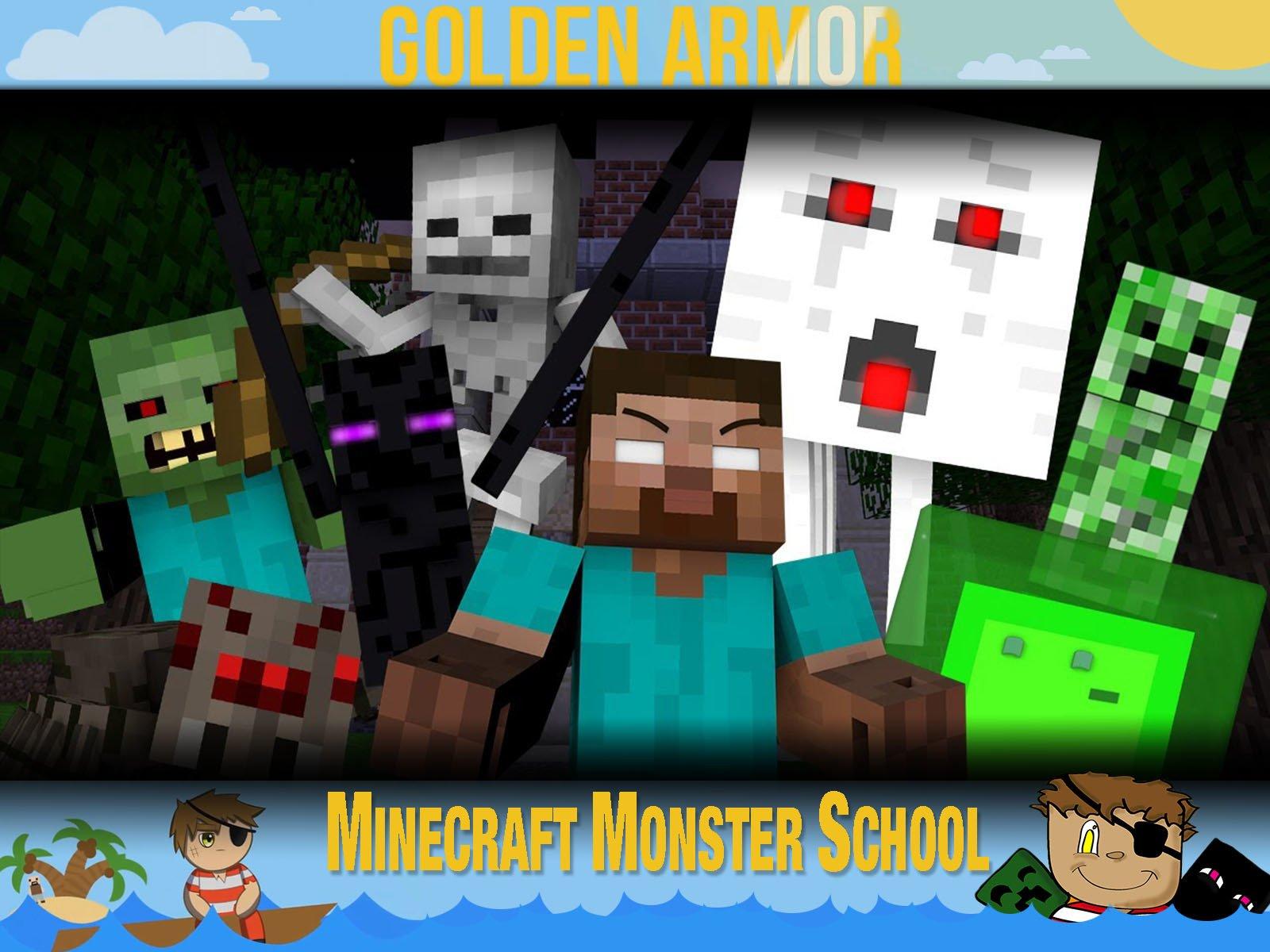Clip: Golden Armor - Minecraft Monster School on Amazon Prime Video UK