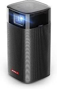 جهاز عرض نيبولا ابوللو D2410V11 بخاصية الواي فاي محمول مع مكبر صوت بقدرة 6 واط من انكر، 200 لومن، 100 انش - لون اسود