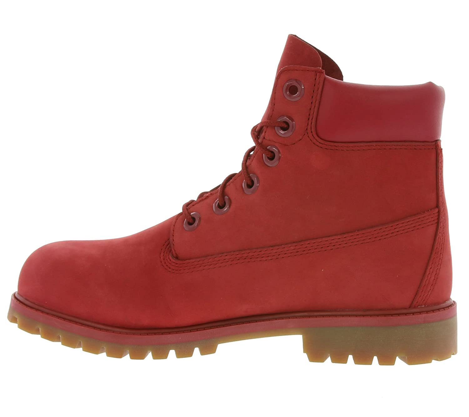 Timberland 6 in Classic Boot, Bottes et Bottines Classiques Mixte Enfant, Rouge (Red Nubuk Monochromatic 626), 39 EU