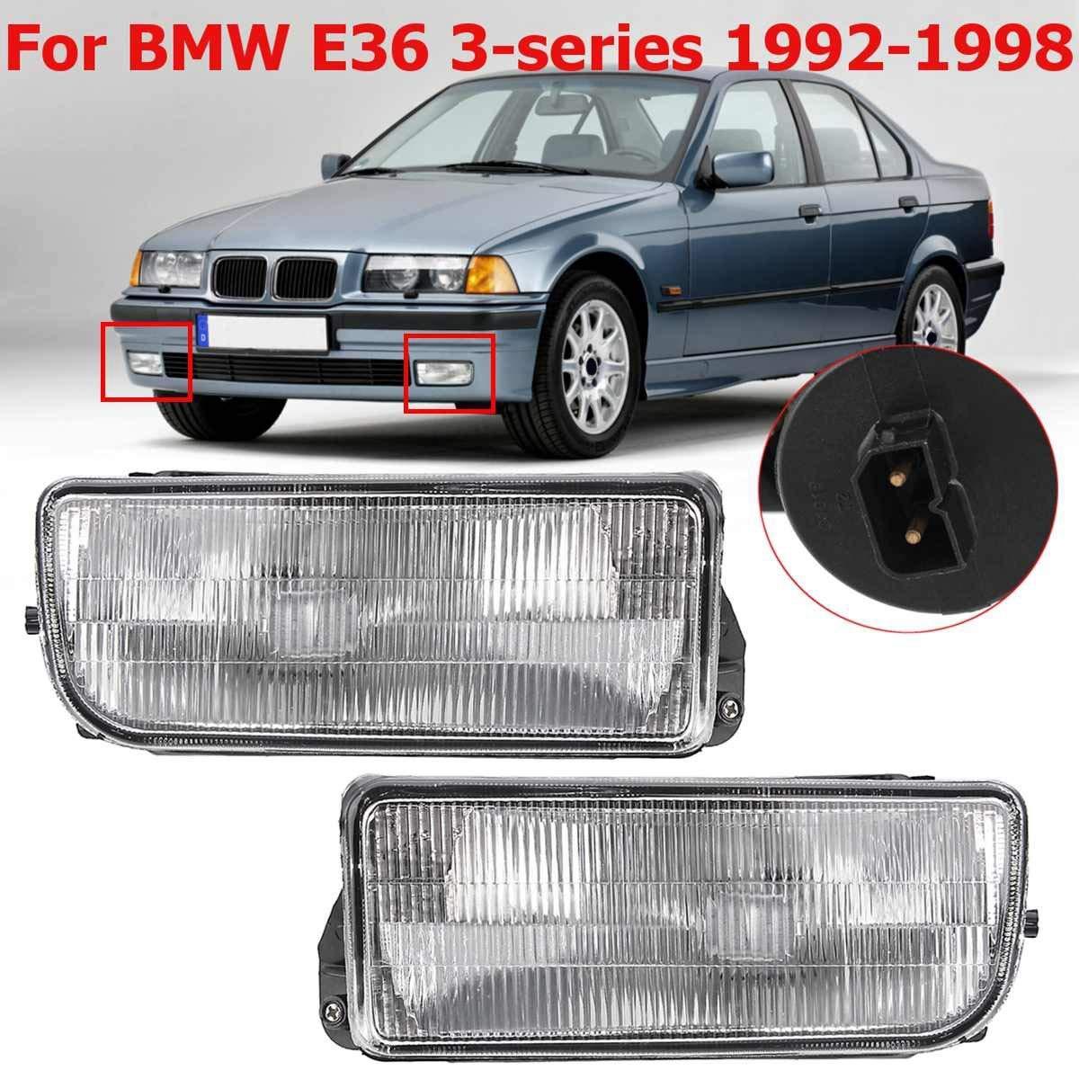SODIAL Car Lentille De Lampe De Brouillard De Pare-Chocs Avant pour E36 1992 1993 1994 1995-1998 H1 sans Ampoule
