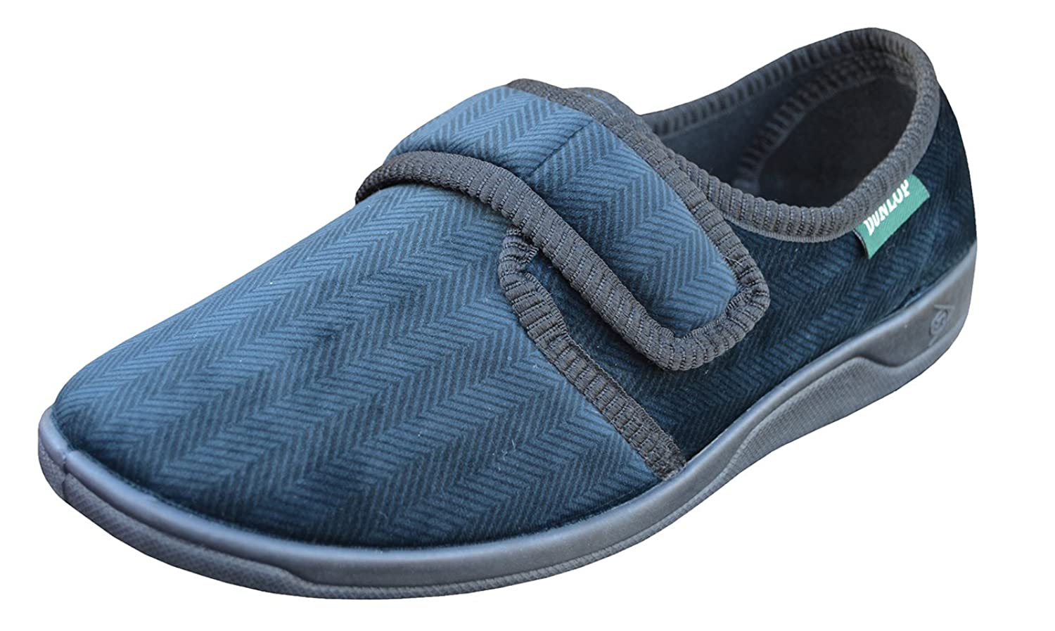 Dunlop Mens Touch Fastening Adjustable Comfort Slippers Sizes 6-12