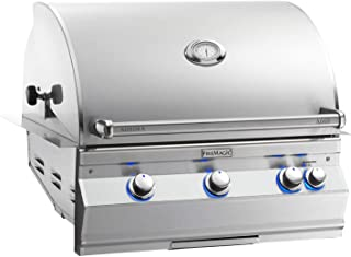 product image for Fire Magic Aurora A660i 30-inch Built-in Natural Gas Grill With Analog Thermometer And Rotisserie - A660i-6ean