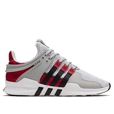 official photos 2d83f 536a4 adidas Mens Overkill EQT Support ADV White Black-Red Fabric Size 9.5