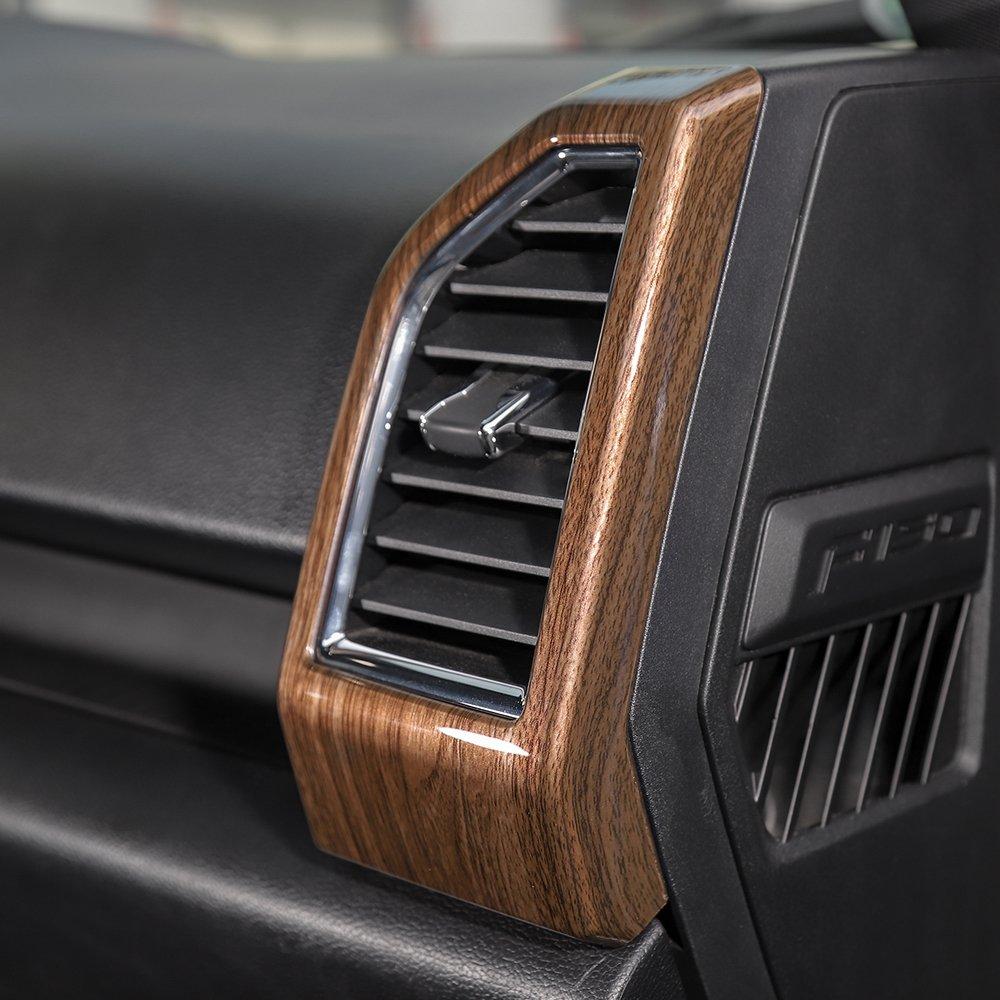 Voodonala Wood Grain Door Speaker Trim for Ford F150 2015 2016 2017