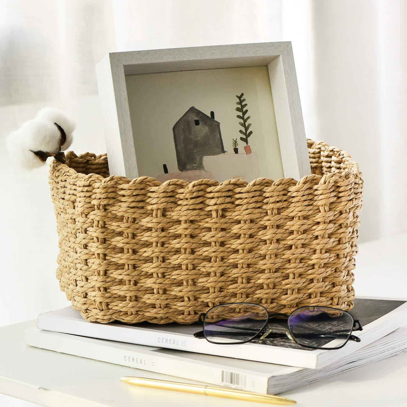 La Jol/íe Muse Scatole di Immagazzinaggio di Carta di Eco Cestino di Immagazzinaggio Impilabile Fatto a Mano Asciugamano Libri di Trucco Armadio Bedroom Decor Set di 4