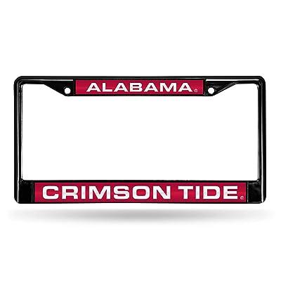 NCAA Rico Industries Laser Cut Inlaid Standard Chrome License Plate Frame, Alabama Crimson Tide : Sports & Outdoors