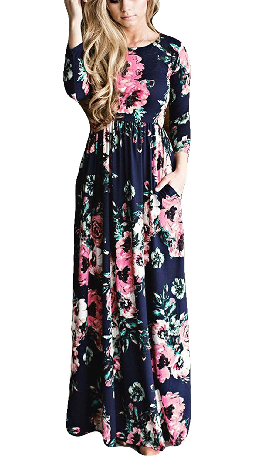 Greenis Summer Women Dress Maxi Floral Printed