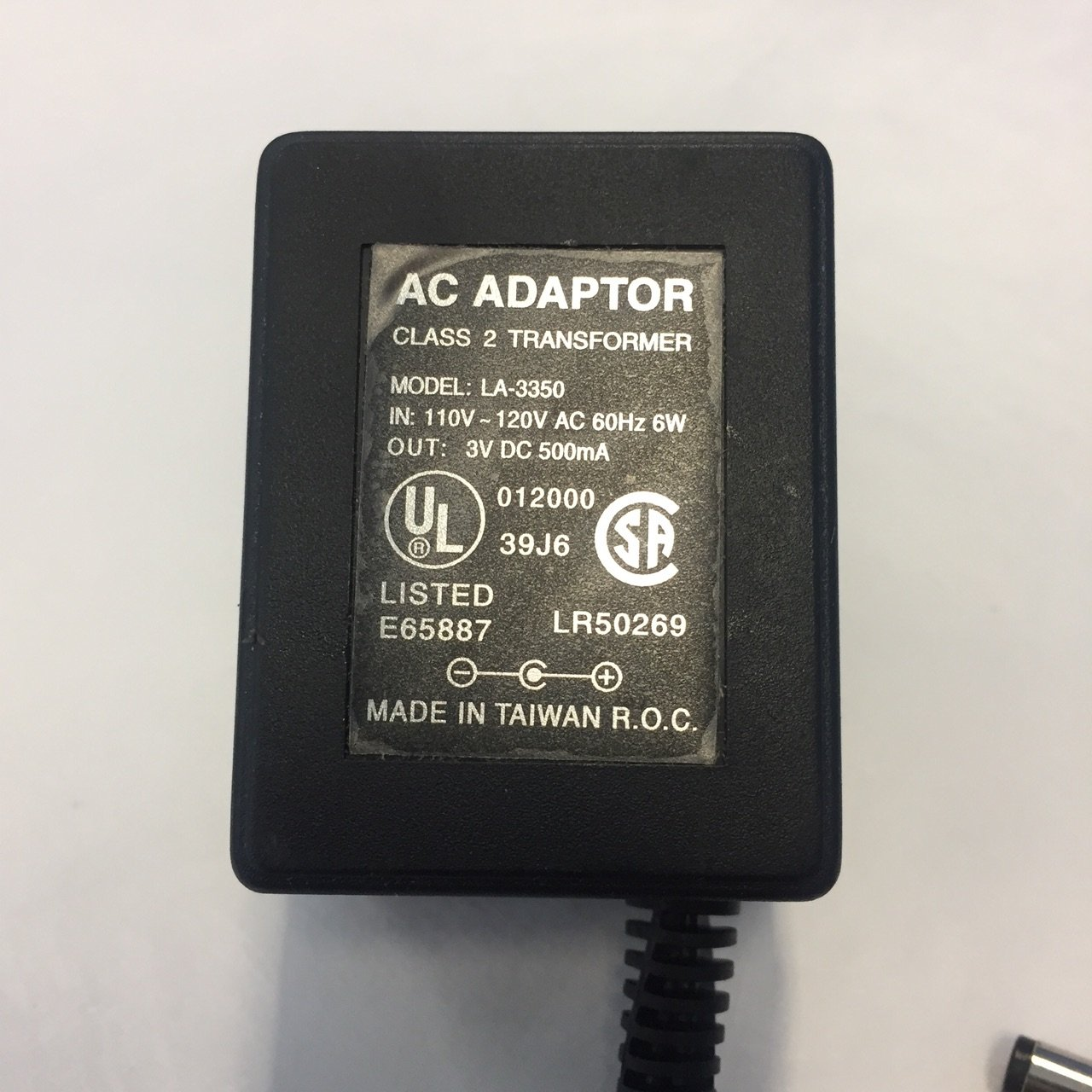 AC//DC Adapter for Battery Operated Rotisserie Motor Gas /& Charcoal Grill LA-3350