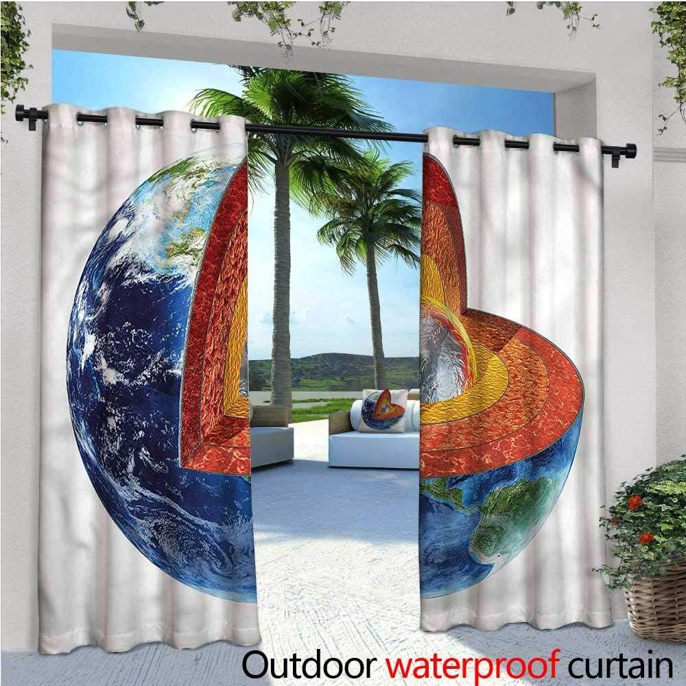 warmfamily Earth Tones Cortina de privacidad para Exteriores, para ...