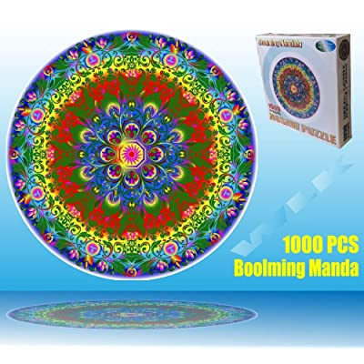 Marvelous Monkey 1000 PCS New Mandala Round Jigsaw Puzzles Game for Adults and Kids: Toys & Games
