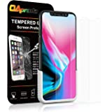 【2枚】OAproda iPhone X/iPhone Xs 液晶保護ガラスフィルム 強化ガラス アイフォン10 保護フィルム【ガイド枠付き】【貼り付け簡単 / 3D Touch / 9H硬度 / 自動吸着】 iPhoneX/Xs 用, 5.8inch
