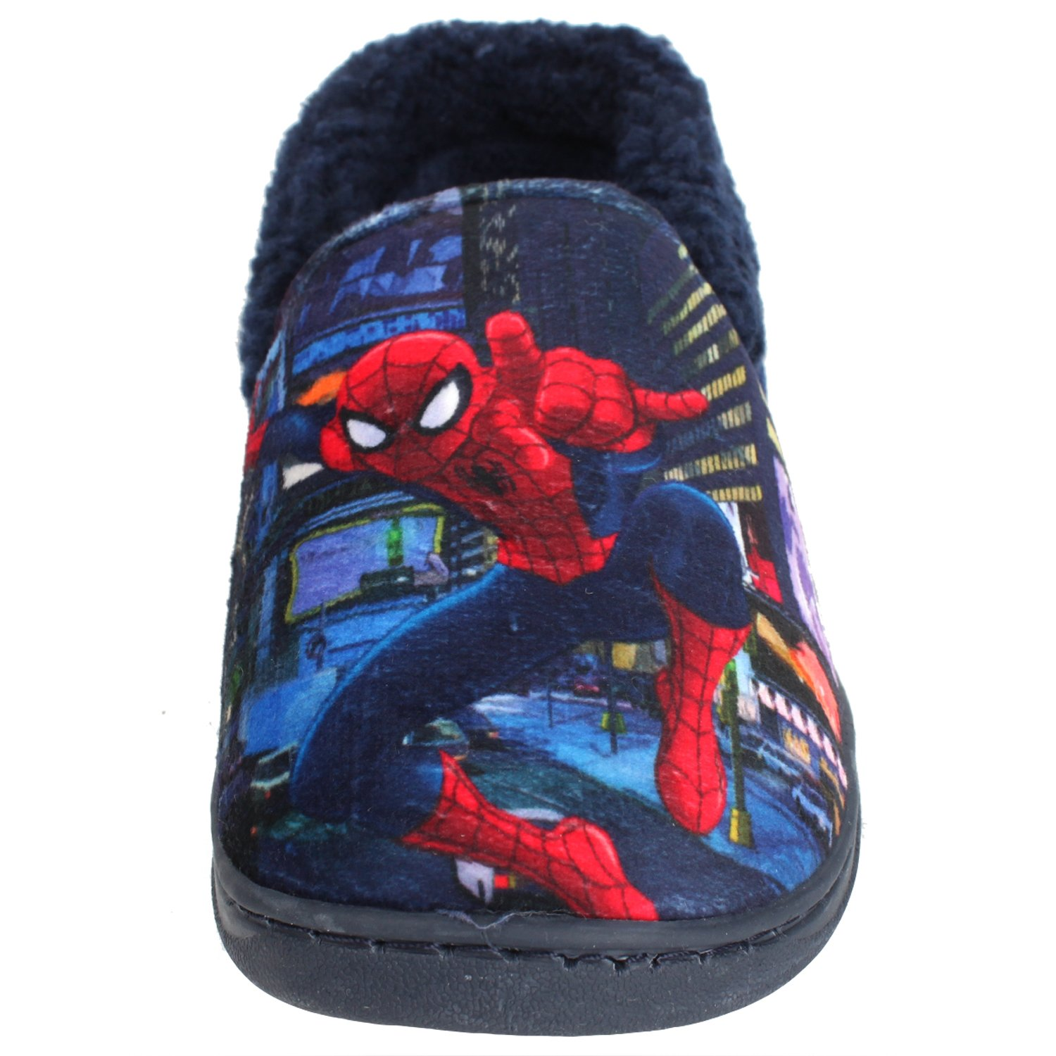 Joah Store Spider-Man Slippers for Boys Navy Red Warm Fur Clog Mule Indoor Shoes (3.5 M US Big Kid, Spider-Man) by Joah Store (Image #7)