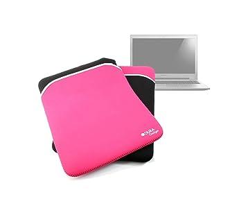 Duragadget-Funda reversible, color negro/rosa para ordenador portátil Lenovo IdeaPad Z500 Touch