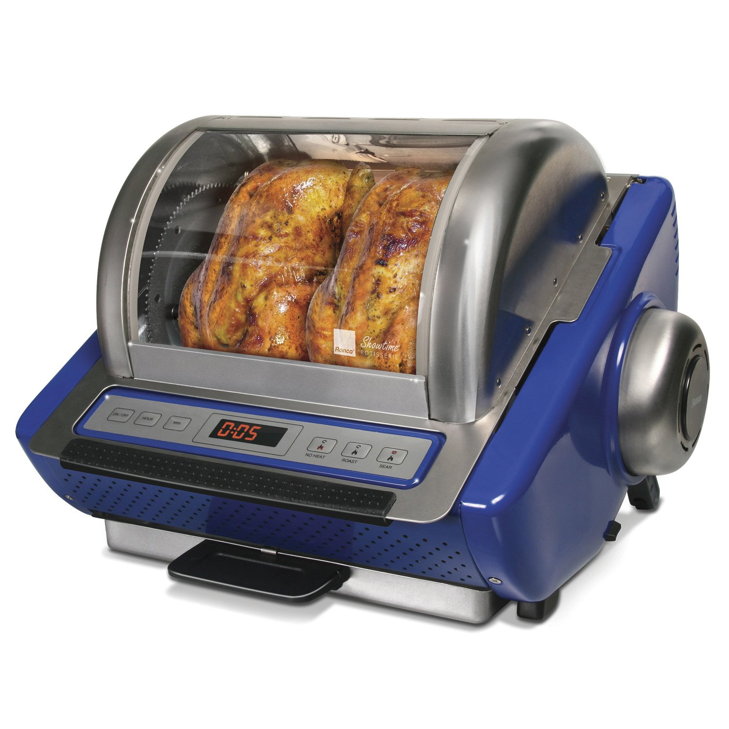 Ronco Digital Showtime Rotisserie and BBQ Oven, Blue