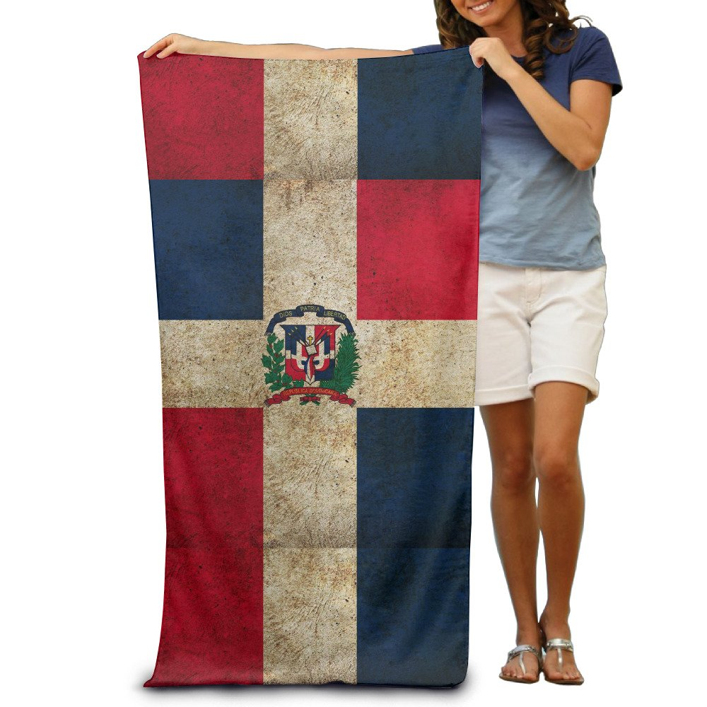 Bandera de República Dominicana Vintage toallas de playa para adultos: Amazon.es: Hogar