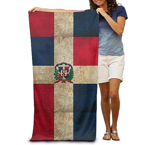 Bandera de República Dominicana Vintage toallas de playa para adultos