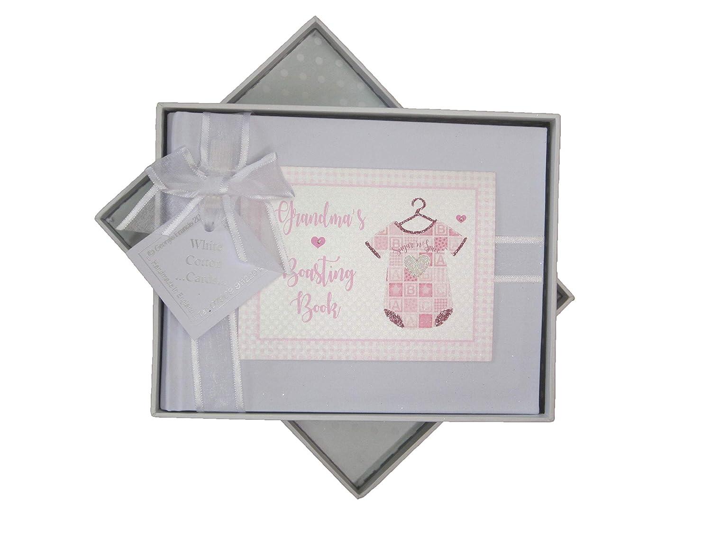 PV3S White Cotton Cards Grandmas Boasting Book Photo Album Pink Vest