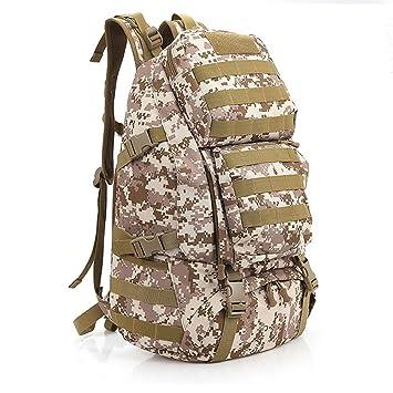 aiyuda al aire libre 20L mochila militar mochila táctica Molle 1000d Nylon grande impermeable Assault Pack para Camping senderismo, hombre, Nomad Desert ...