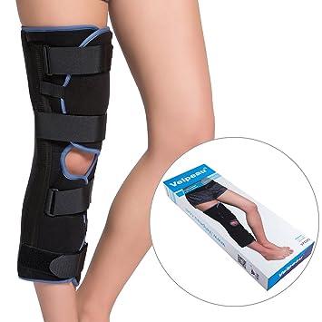 "ceae5cab41 Velpeau Knee Immobilizer - 18"" Length - Suitable For Sleep - Full Leg  Brace -"