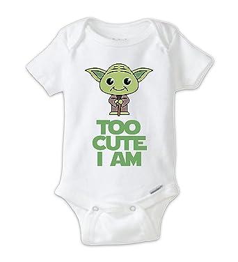 923537dac Star Wars Cute Yoda Baby Onesie, Baby Bodysuit, Yoda Onesie, Star Wars  Onesie