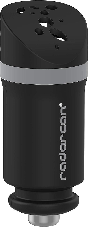 RADARCAN® R-501 Purificador de Aire para Automóvil, 12 V, Negro Mate (Incorpora Luz Led)