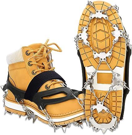 Trotar Escalar y Caminar WIN.MAX Ice Snow Grips con 10 Picos para Caminar
