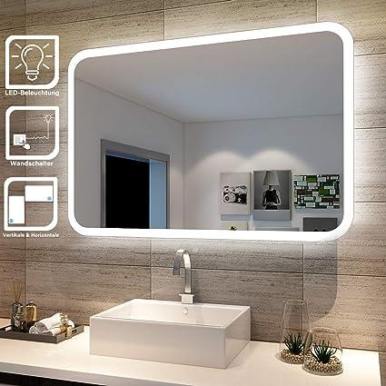 sonni badspiegel lichtspiegel kupfer bleifreie spiegel wandspiegel 40 x 60cm kaltweiß ip44 energiesparend  leuchtspiegel neue wege gehen #6