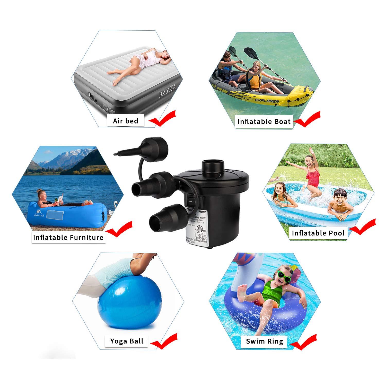 Amazon.com: Tuomico - Bomba de aire eléctrico, bomba de aire ...