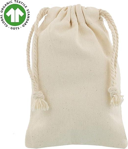 shingyo 10 Bolsitas de algodón orgánico 10x15 cm: Amazon.es: Hogar