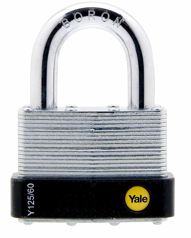 Yale Y125/60/133/1 Silver Laminated Open Shackle Padlock 60 mm Snap Locking
