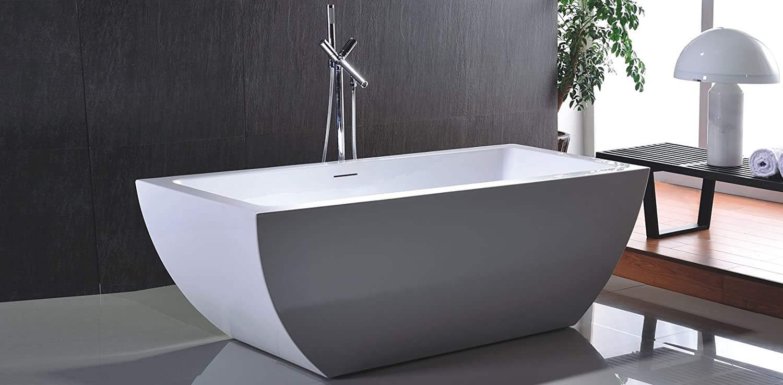 Freistehende Badewanne Acryl weiß 170x80 Modern Noa: Amazon.de ...
