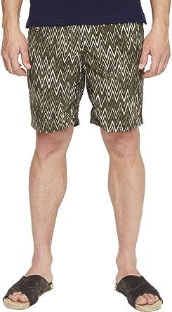 5e721ae494 Missoni Men's Mare Printed Nylon Bicolor Zigzag Swim Trunks Green Swimsuit  Bottoms