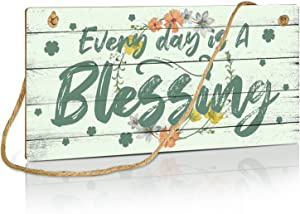 Putuo Decor Home Bless Decor, Home Sign for Farmhouse, Bedroom, Kitchen, 10x5 Inches Hanging Wall Art Sign - Every Day is a Blessing