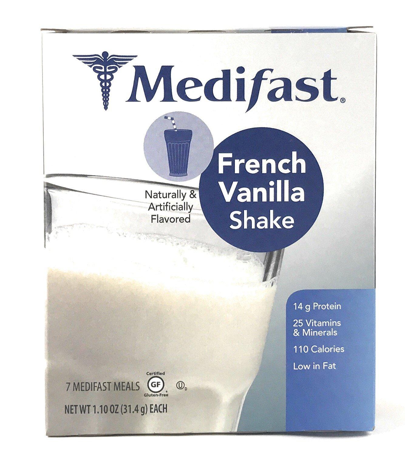 Medifast French Vanilla Shake (1 Box/7 Servings)