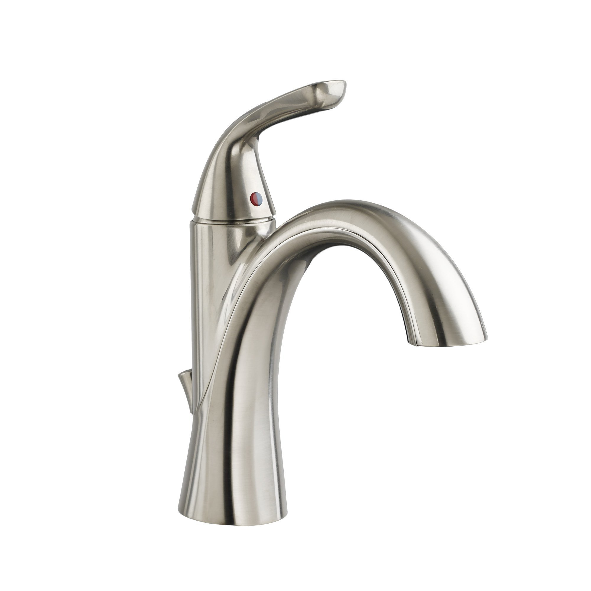 American Standard 7186101.295 Fluent Single Handle Bathroom Faucet with Speed Connect Drain, Satin Nickel by American Standard