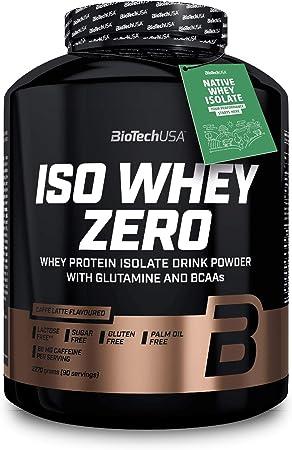 BioTechUSA Iso Whey ZERO, Lactose, Gluten, Sugar FREE, Whey Protein Isolate, 2.27 kg, Caffé Latte