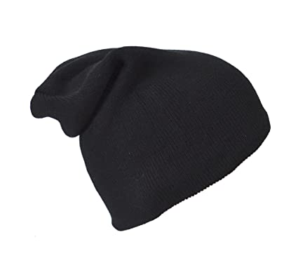Image Unavailable. Image not available for. Colour  Black Large Slouch  Beanie Hat 33ac886ab5d
