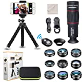 15 in 1 Universal Phone Camera Lens Kit 18X Telephoto Lens Wide Angle Lens,Macro Lens, Fisheye Lens,Kaleidoscope 3/6…