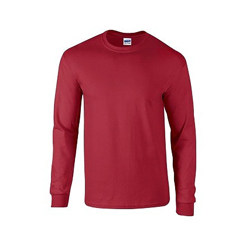 Amazon.com: Gildan Mens Plain Crew Neck Ultra Cotton Long Sleeve T ...