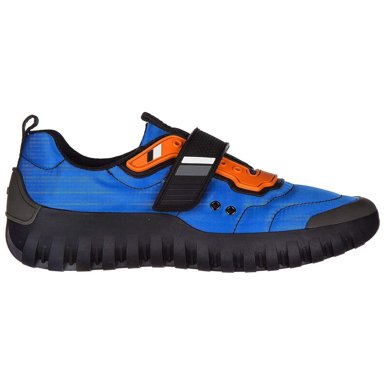 Azzurro + black Prada Men Sneakers Azzurro + black