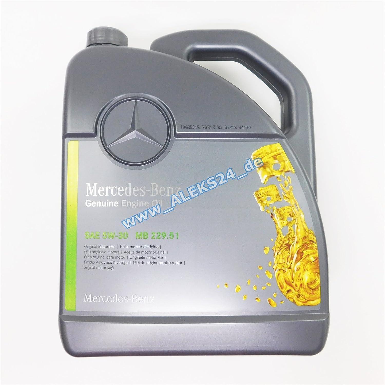 Mercedes-Benz Original Motorenöl 5W-30 MB 229,51 5 L: Amazon.de: Auto