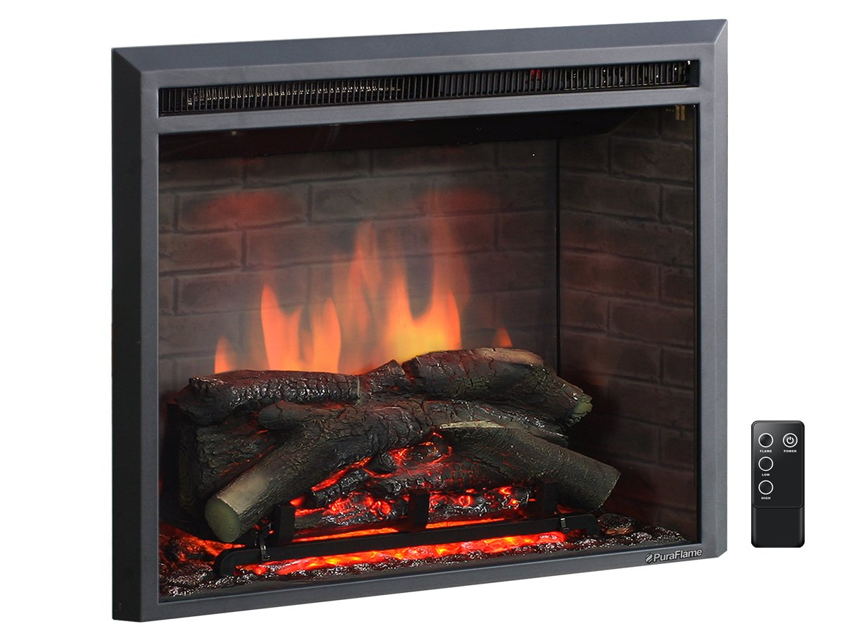 26 Inch Western Electric Fireplace Insert with Remote ...