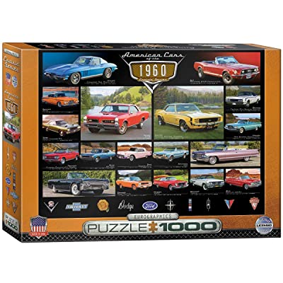 EuroGraphics 1960's Cruisin' Classics Jigsaw Puzzle (1000-Piece): Toys & Games