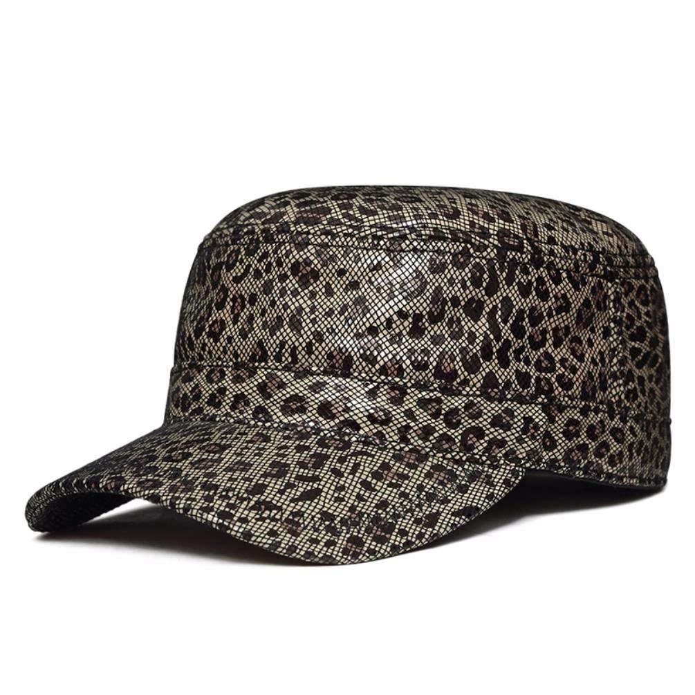 LIUXINDA-PM Mens Womens Spring and Autumn Outdoor Casual Leather hat Flat Cap Military Cap Cap