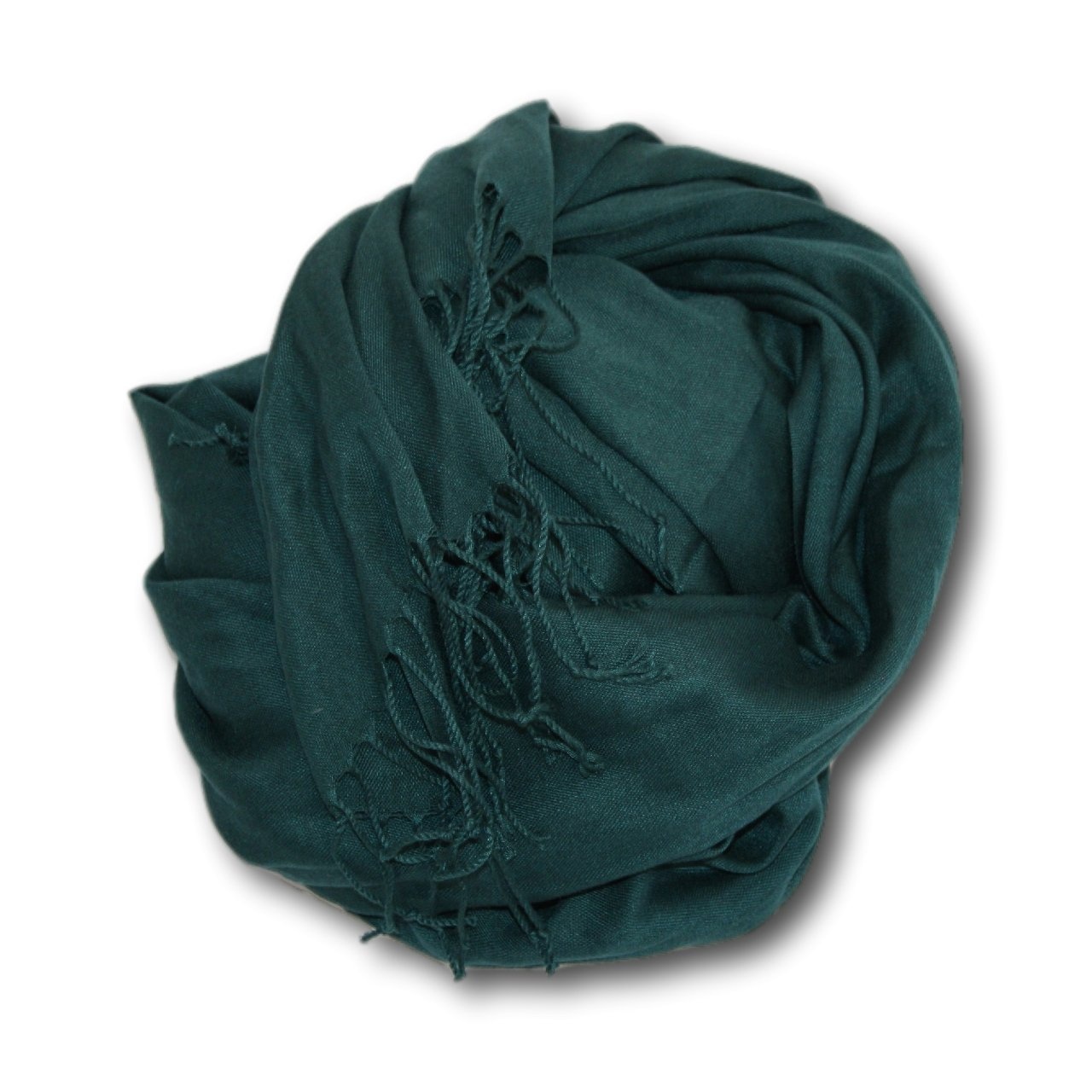 Pashmina-Style Wrap in Conifer Forest Green PASH_020