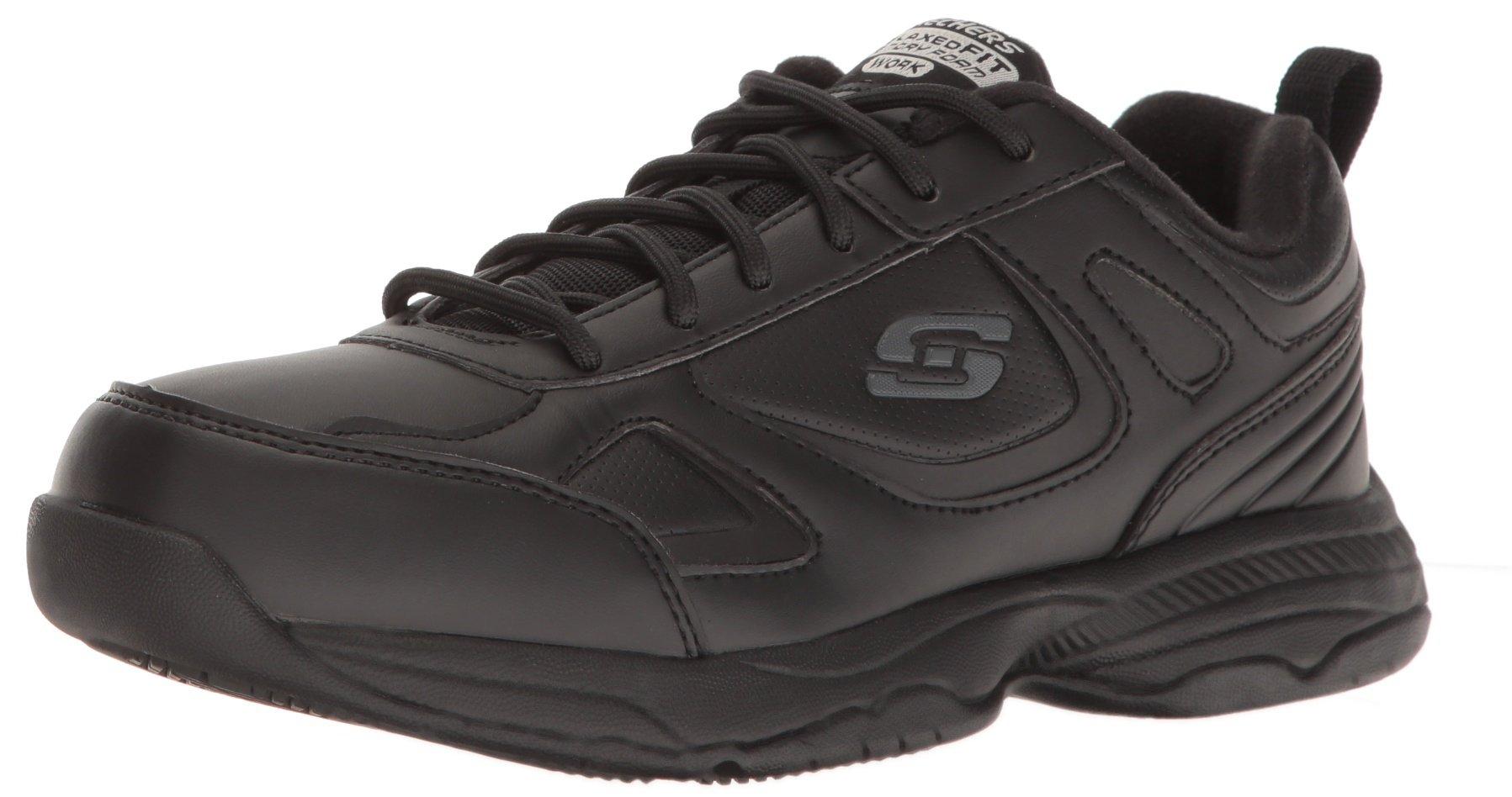 Skechers for Work Women's Dighton Bricelyn Wide Work Shoe, Black, 5 W US