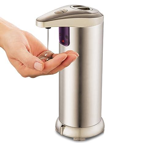 Dispensador de jabón, liquido automático Dispensador, de acero inoxidable dispensador de jabón automático con